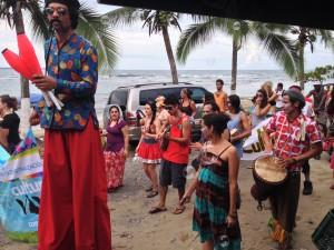 Festival goers in Puerto